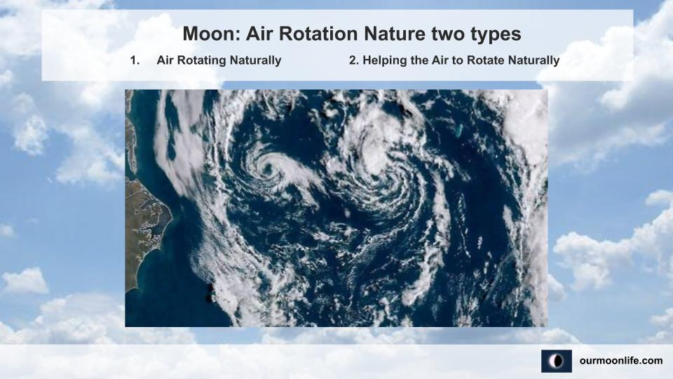 Moon Air Rotation Nature two types
