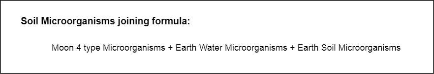 Soil Microorganisms joining formula